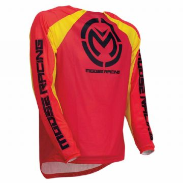 Moose Racing S19 M1 MX Motocross Off Road Jersey Red/Yellow